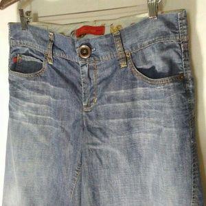 Level 99 Jeans Size 31 100% Cotton Crop Wide Leg